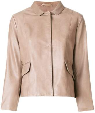 S.W.O.R.D 6.6.44 concealed fastening leather jacket