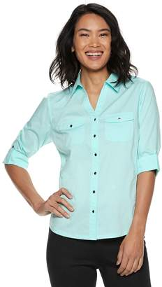 Croft & Barrow Petite Button Down Top