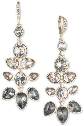 """Givenchy Extra Large Gold Crystal Chandelier Earrings, 2.5"""""""