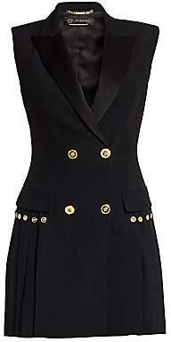 Versace Women's Envers Pleated Blazer Dress
