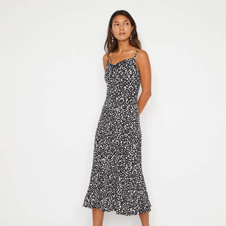 Warehouse ABSTRACT ANIMAL MIDI DRESS