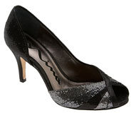 Nina 'Floy' Open Side Peep Toe Sequin Pump