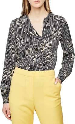 Reiss Celeste Collarless Patterned Long Sleeve Blouse