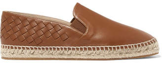 Bottega Veneta Intrecciato Leather Espadrilles - Tan