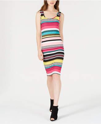 Planet Gold Juniors' Sleeveless Striped Bodycon Dress