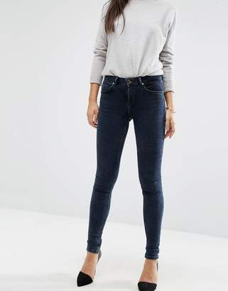 Asos Lisbon Mid Rise Jeans In Mississippi Wash
