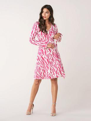 Diane von Furstenberg T/72 Silk-Jersey Knee-Length Wrap Dress