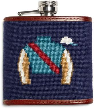 Brooks Brothers Horse Racing Needlepoint Flask