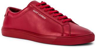 Saint Laurent Andy Low Top Sneakers in Red | FWRD