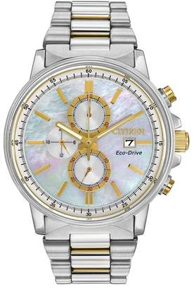 Citizen Women's Nighthawk Eco-Drive Stainless Chronograph Dive Watch, 42mm
