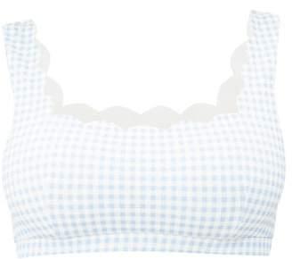 Marysia Swim Palm Springs Textured Scallop Edge Bikini Top - Womens - Light Blue