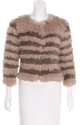 LK Bennett Knit Fur Jacket