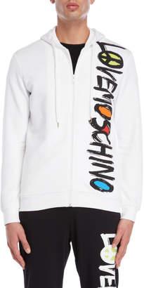 Love Moschino Vertical Logo Zip Hoodie