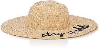 "Barneys New York WOMEN'S ""STAY A WHILE"" RAFFIA WIDE-BRIM HAT"