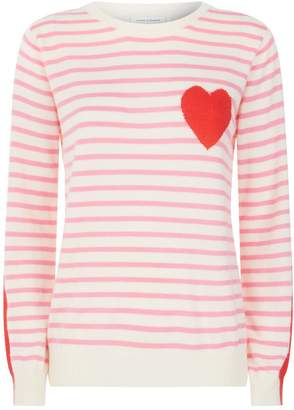 Chinti and Parker Stripe Sleeve Sweater