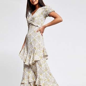 River Island Cream paisley print maxi dress