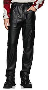 GmbH Men's Faux-Leather Workman Pants - Black
