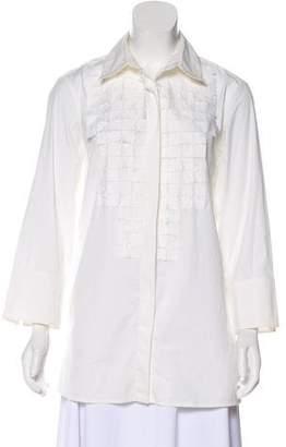 Yansi Fugel Long Sleeve Button-Up Top