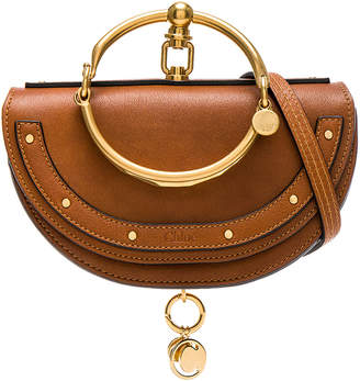 Chloé Small Nile Leather Minaudiere in Caramel | FWRD