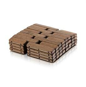 Studio.W 4Pk Wood Blocks Coaster