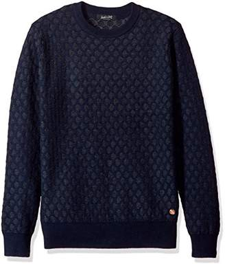Scotch & Soda Men's Crewneck Pullover in 3D Structured Pattern