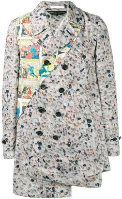 Comme des Garcons printed double breasted blazer