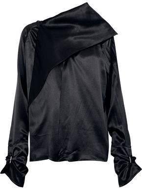 Marques Almeida Marques' Almeida Layered Silk-Charmeuse Top