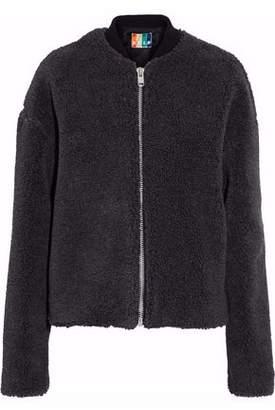 MSGM Faux Shearling Bomber Jacket
