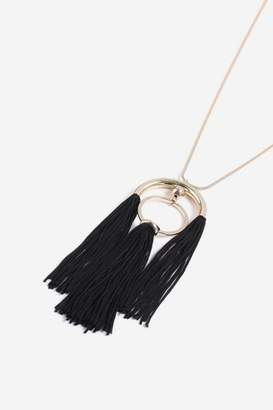 Topshop Black Tassel Necklace