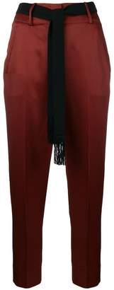 Incotex satin-finnish tailored trousers