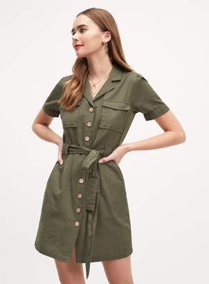 cf5f0c68ed1 Khaki Buttoned Shirt Dress - ShopStyle UK