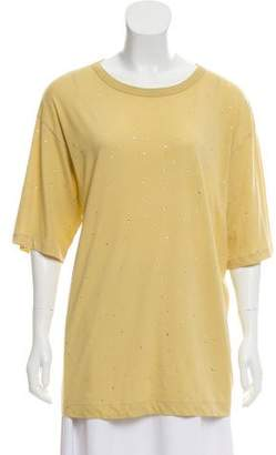 Dries Van Noten Embellished Short Sleeve Top