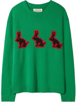 Tory Sport MERINO MINI-RABBITS SWEATER