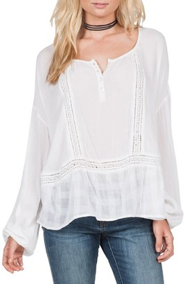 Volcom 'Adalaide' Long Sleeve Peasant Top $55 thestylecure.com