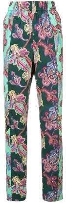 Tibi paisley high-waisted trousers