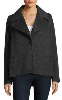 Laundry by Shelli Segal Buttoned Notch Coat