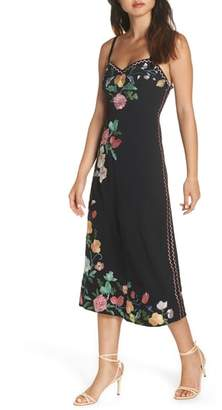 Foxiedox Flower Embroidered Midi Dress
