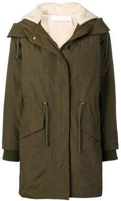 See by Chloe zipped hooded parka coat