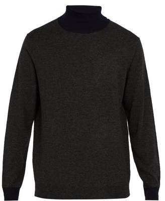 Altea - Roll Neck Wool Sweater - Mens - Grey