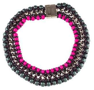 Proenza Schouler Faux Pearl Collar Necklace