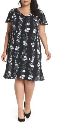 Sejour Flutter Sleeve Shift Dress
