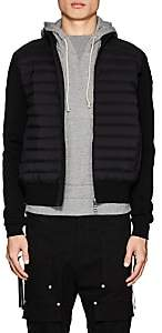 Moncler Men's Maglia Down-Quilted Cotton-Blend Jacket - Black