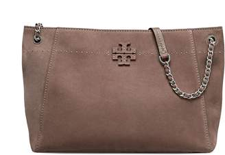 Tory Burch McGRAW SUEDE CHAIN-SHOULDER SLOUCHY TOTE