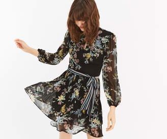 Oasis JASMINE FLORAL SKATER DRESS