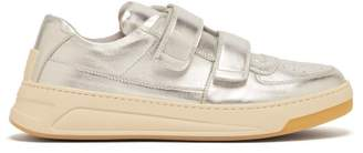 Acne Studios Perey Low Top Leather Trainers - Mens - Silver