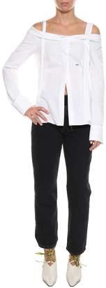 Off-White Off-shoulder Shirt