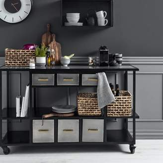 Co The Forest & Black Metal Kitchen Storage Trolley Or Island