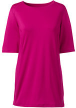 Lands' End Women's Tall Active Tunic Top-Brilliant Fuchsia $39 thestylecure.com