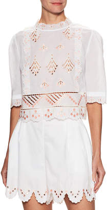 Temperley London Embroidered Top