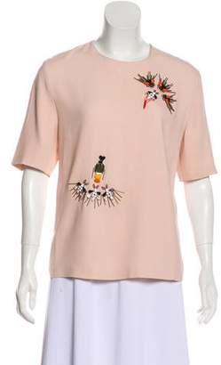 Stella McCartney Embellished Short Sleeve Blouse